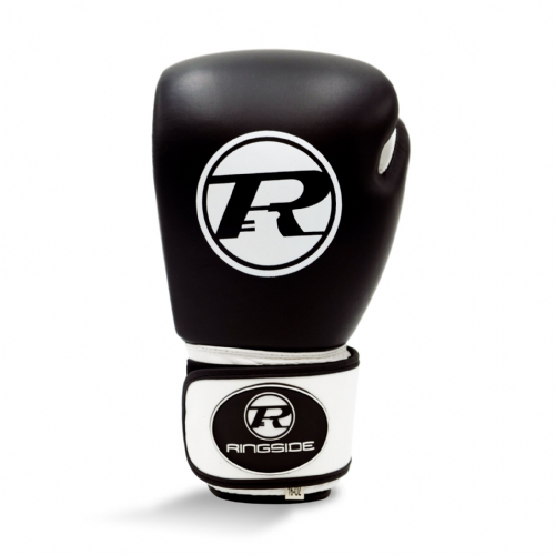 Ringside Club Boxing Gloves Black/White 16oz
